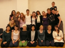 Exchange students from Rose Bruford College in Drama School, 2009